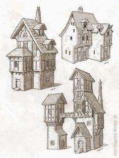Medieval House Drawing At GetDrawings