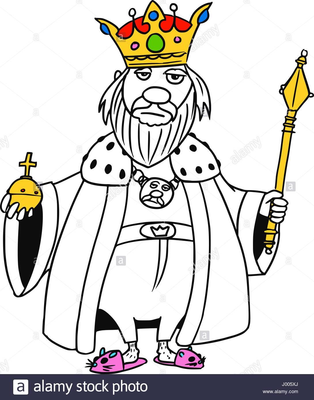 1090x1390 Cartoon Vector Old Fantasy Medieval King Monarch Sovereign