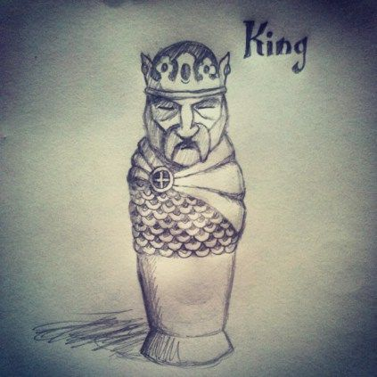 423x423 The King. (Based Somewhat On A Medieval Illuminated Manuscript