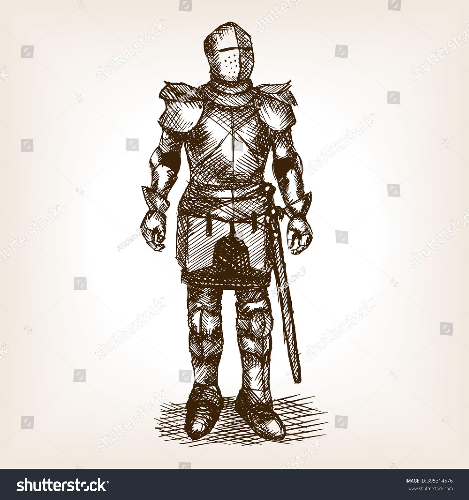 1500x1600 Drawing Of A Knight In Armour Medieval Knight Armour Sword Sketch