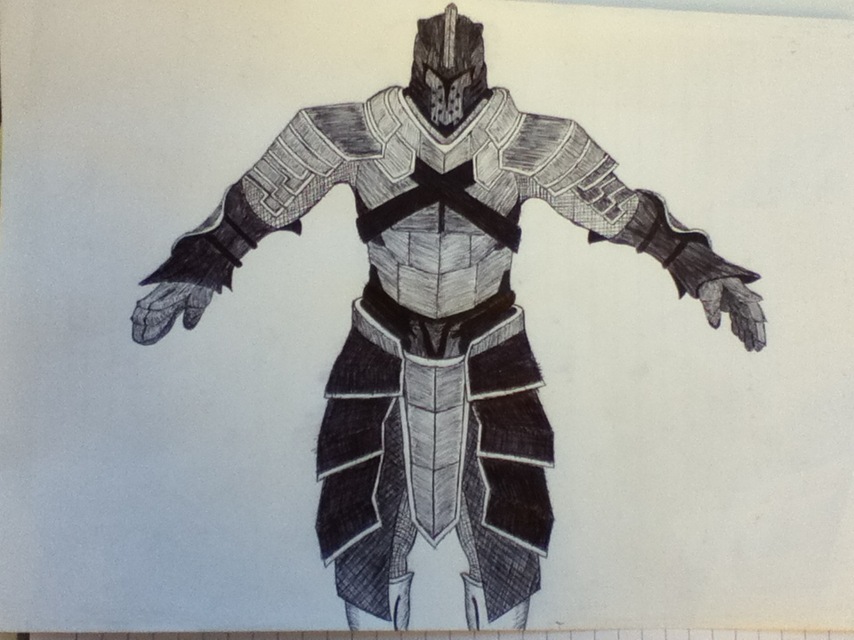 960x720 Fantasy Medieval Knight Pen Drawing By Finlayc