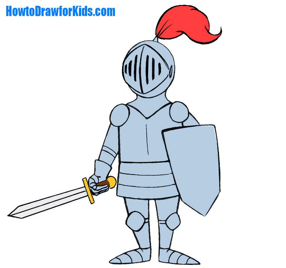 959x899 How To Draw A Knight For Kids Howtodrawforkids