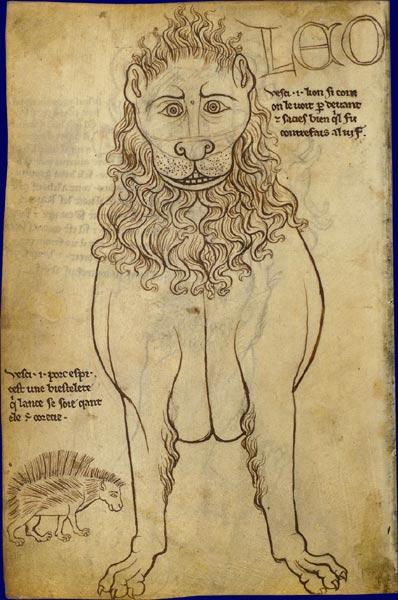 398x600 Faune Lion Villard De Honnecourt, Carnet De Dessins France, Vers