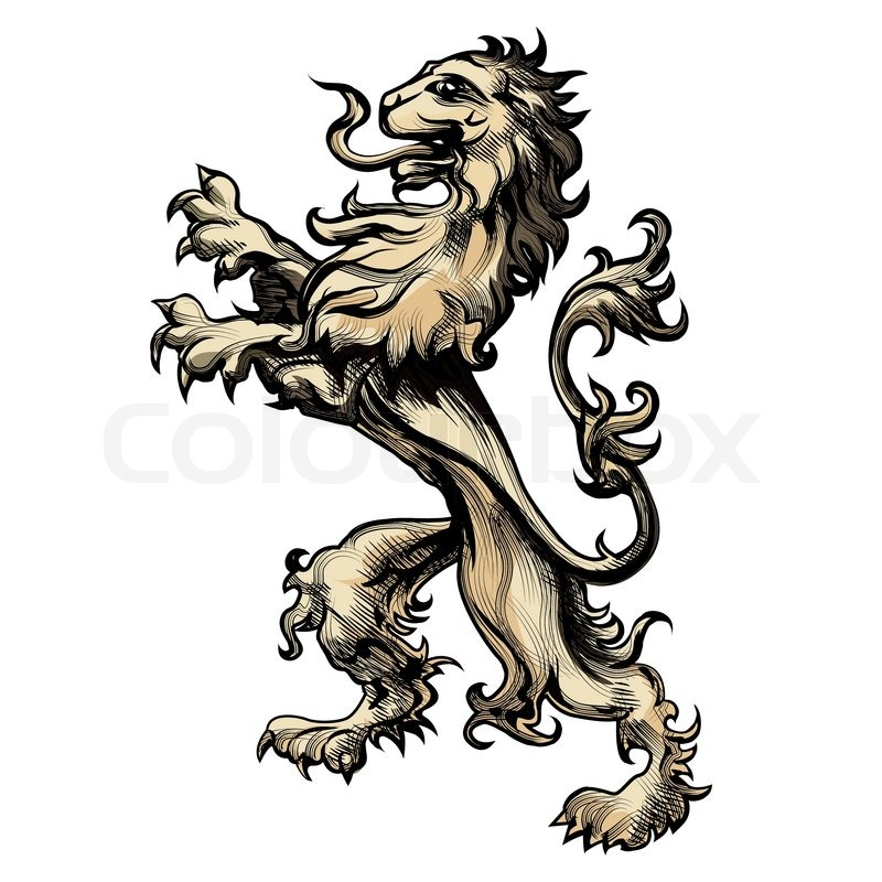 800x800 Heraldry Lion Drawn