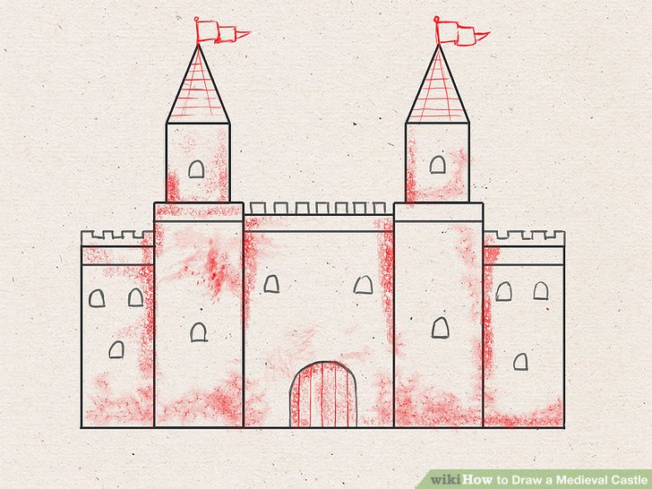 728x546 How To Draw A Medieval Castle 9 Steps (With Pictures)