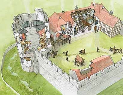 410x318 This Is A Drawing Of Stokesay Castle, Near Ludlow. It Is A Small
