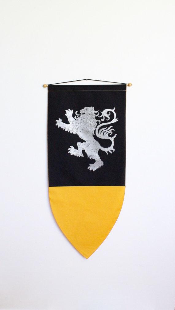 570x1008 Lion Banner Flag Medieval Drawing Illustration Wall Hanging Decor