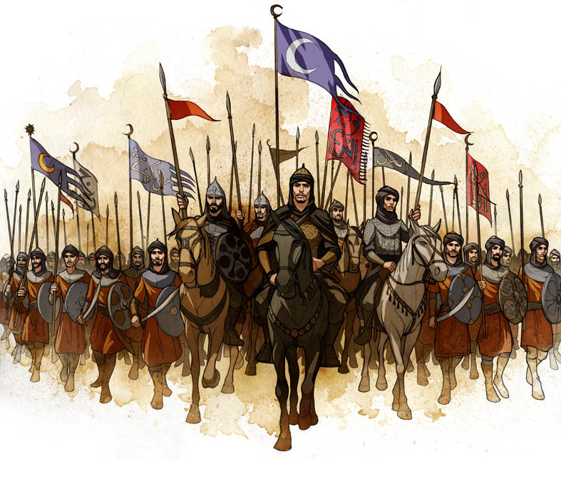 787x676 Arabian Medieval Army By Javieralcalde