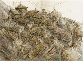 274x200 Drawing Medieval Village Gameuildings Medieval