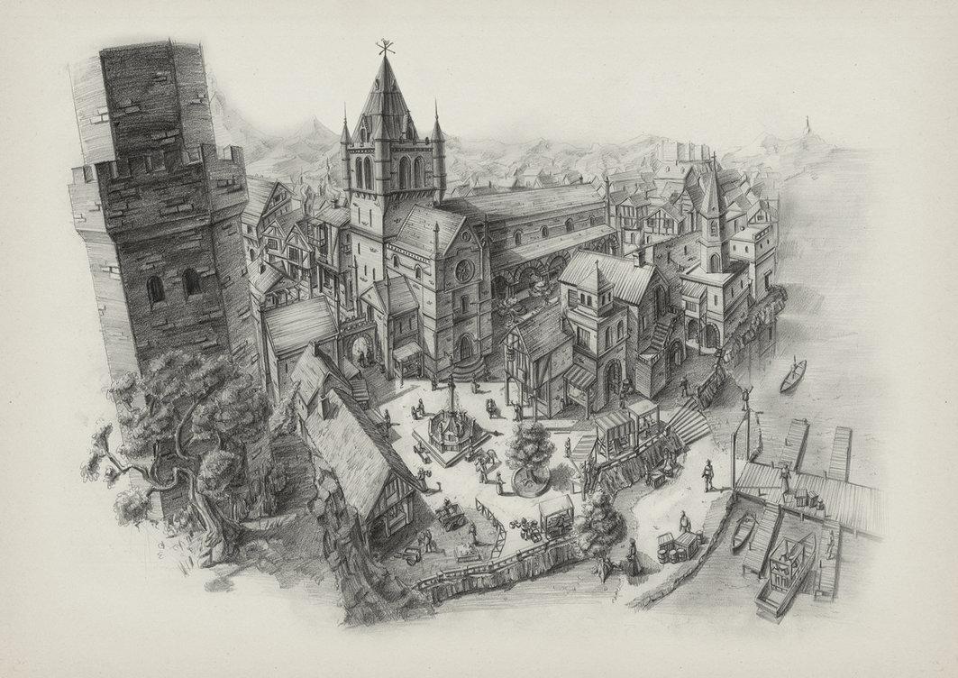1063x752 Medieval Landscape Concept By Soulfinder90