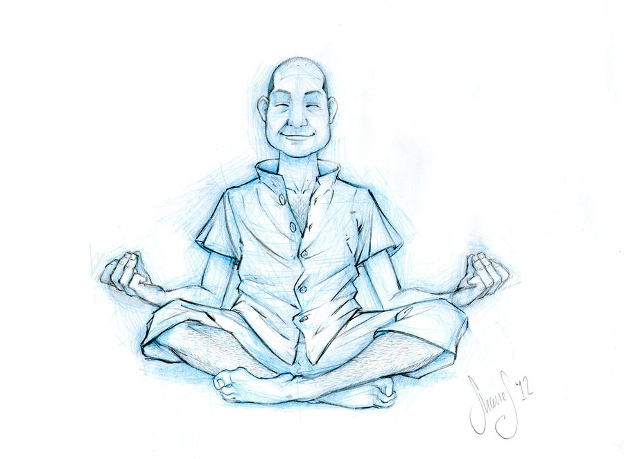 900x662 Meditation Pose By Ofirbr On DeviantArt