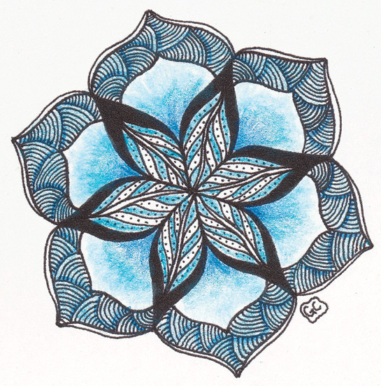 545x552 Zentangle Untangled, Kass Hall, How To Zentangle, Drawing