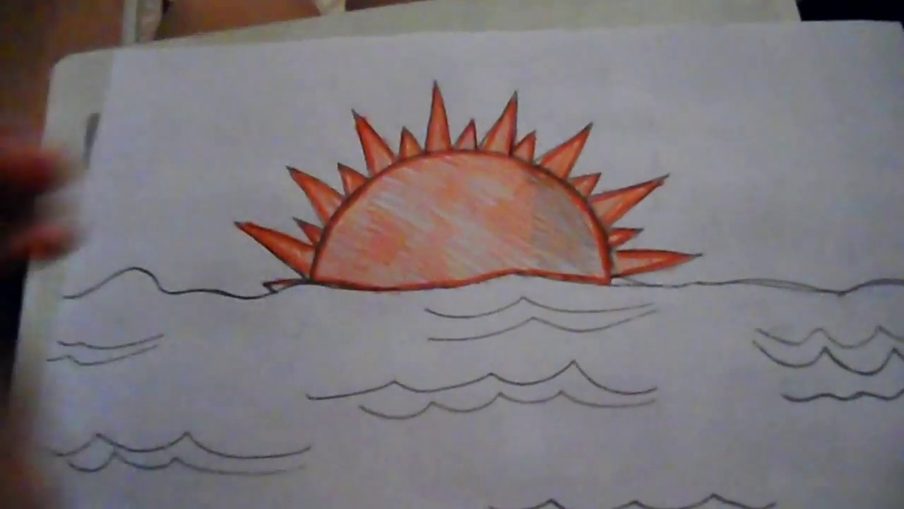 1280x720 How To Draw A Sun Set (Medium Level)