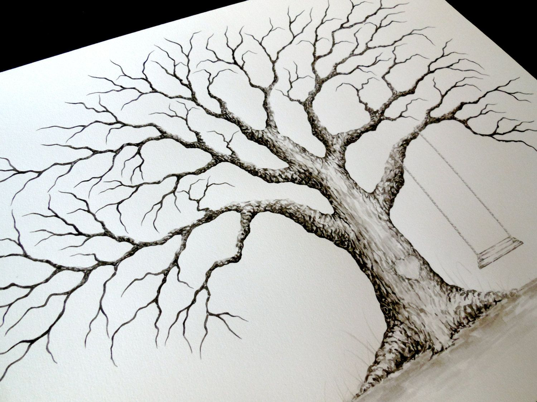 1500x1125 Medium Oak Wedding Guest Book Tree With Swing By Lastingkeepsakes
