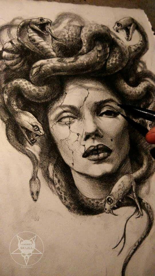 Medusa Illustration Tattoo: Medusa Drawing At GetDrawings