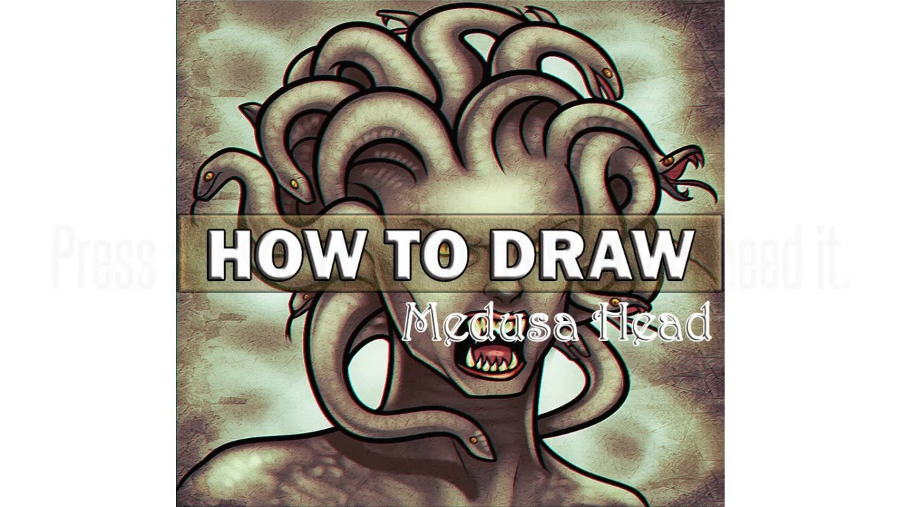 1280x720 How To Draw Medusa Head Step By Step