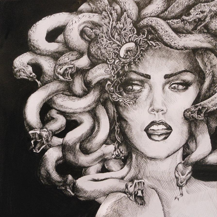 894x894 Medusa By ~madeleineink On Medusa