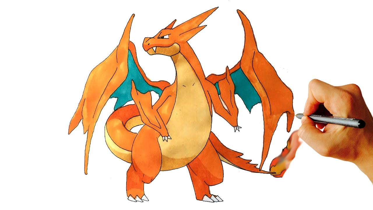 1280x720 How To Draw Mega Charizard Y From X Y Drawing Lesson