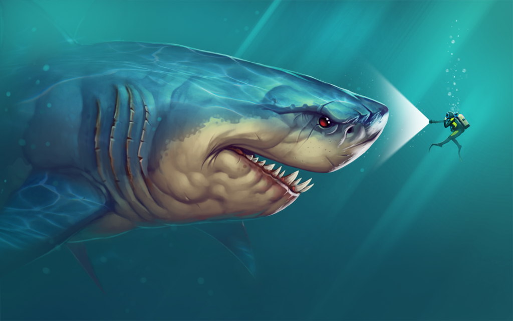 Megalodon shark drawing at getdrawings free for personal use 1024x640 megalodon says hi by artbyelde on deviantart altavistaventures Images