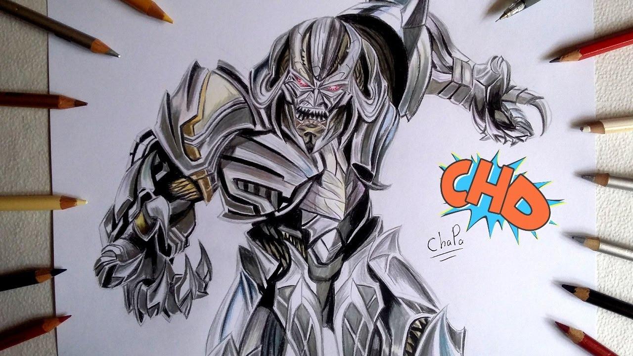 1280x720 Dibujando A Megatron Transformers The Last Knight Drawing