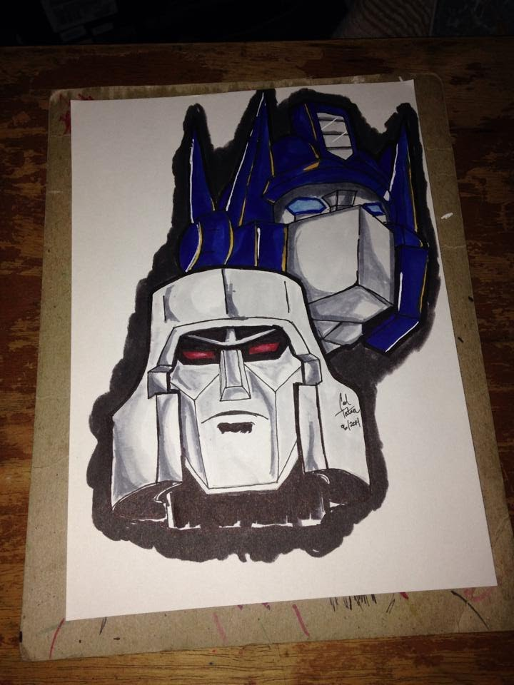 720x960 Drawing G1 Transformers Optimus Prime And Megatron