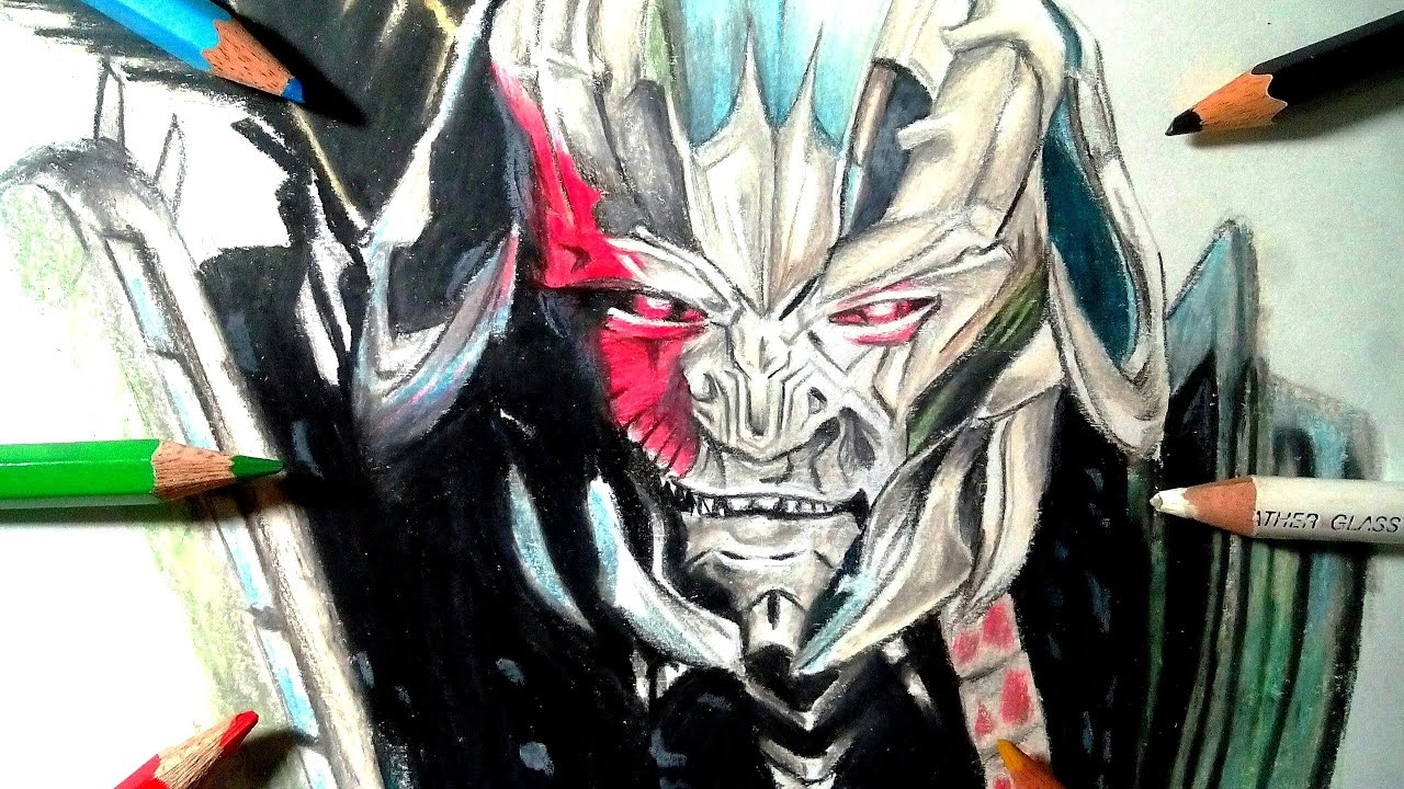 1280x720 How To Draw Megatron (Transformers The Last Knight) Time Lapse