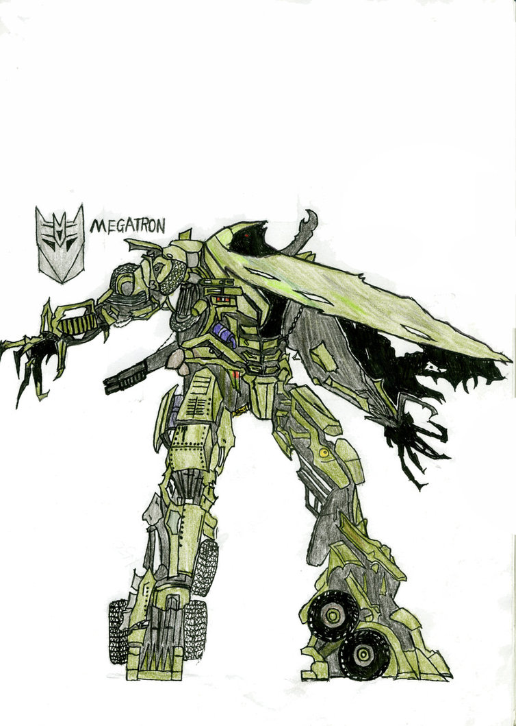 754x1059 I Used Colored Pencil Drawing Of Megatron By 841376252