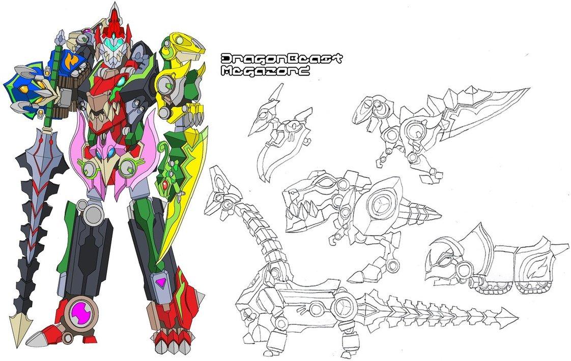 1122x711 Dragonbeast Megazord By Tyrranux
