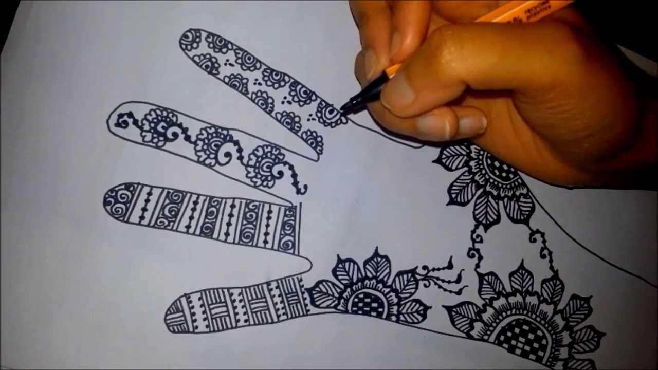 1280x720 Cool Designs Draw Paper Arabic Floral Henna Easy Mehndi Design