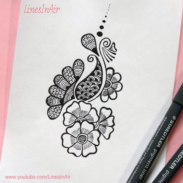 612x612 Easy Henna Mehndi Design By Linesinair