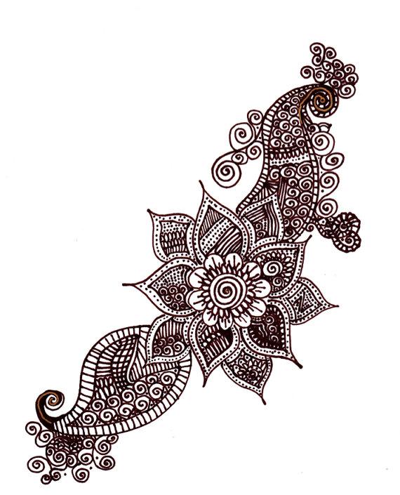 570x705 Henna Design Drawing Henna Designs And Hennas