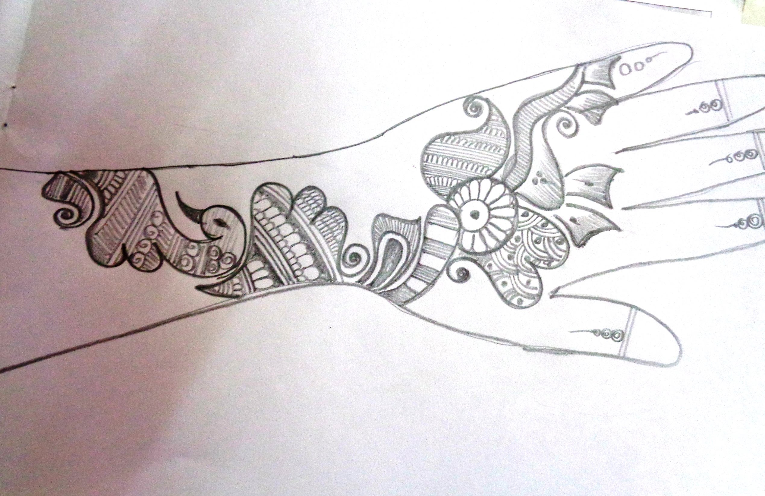2538x1645 How To Draw A Mehndihenna Design On Paper