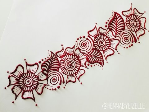 480x360 How To Henna (Mehndi) Design 3 How To Draw A Henna Strip