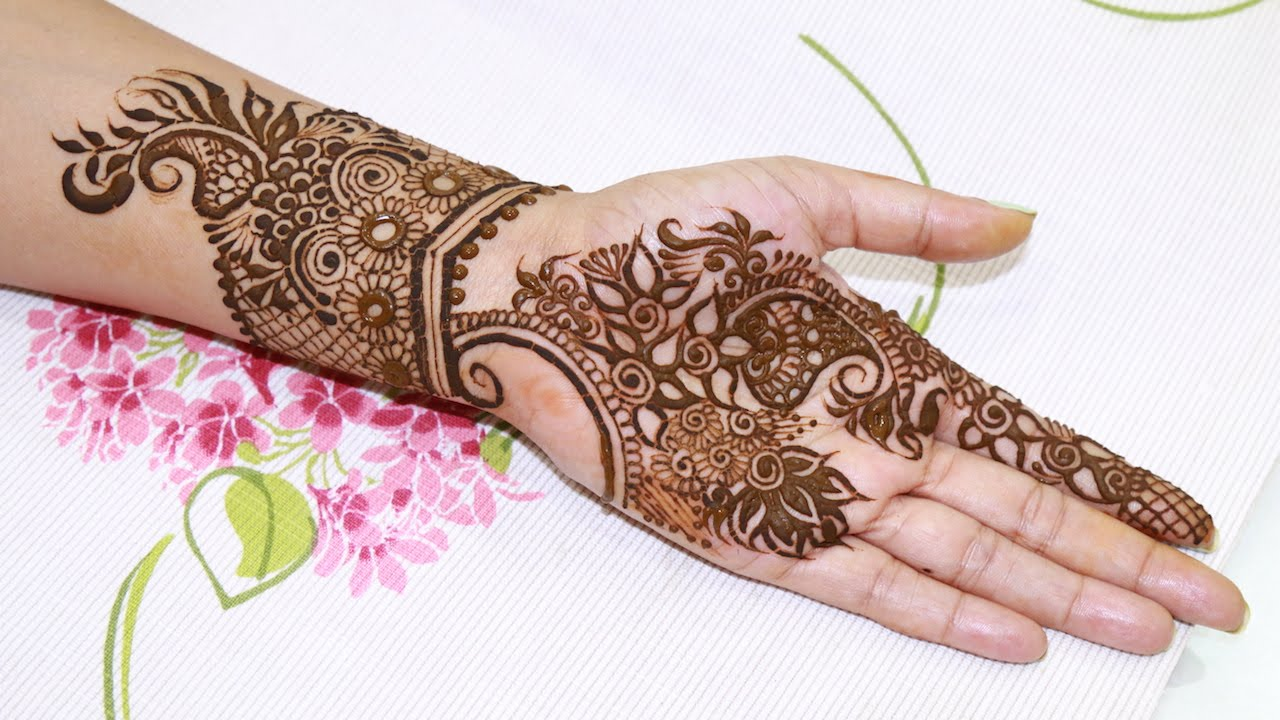 1280x720 Quick Amp Easy To Draw Floral Henna Design Step By Step Tutorial