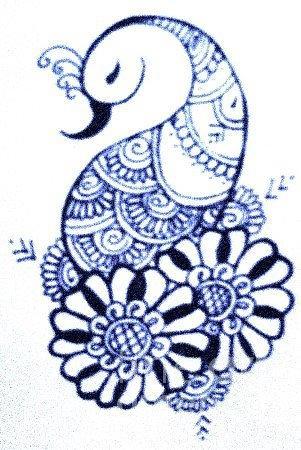 301x450 Mehndi Peacock Mehndi Peacock Drawing By Jessica Petty