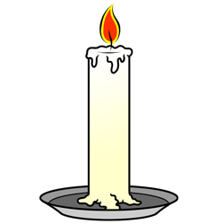 250x250 Cartoon Candle Step By Step Drawing Lesson