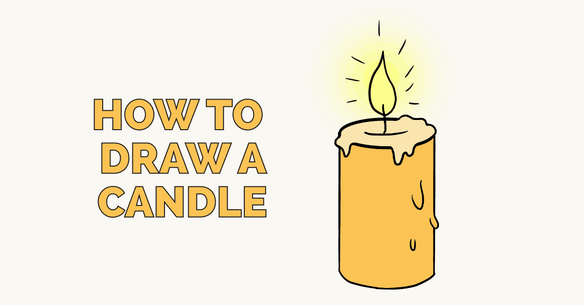 1200x628 How To Draw A Candle