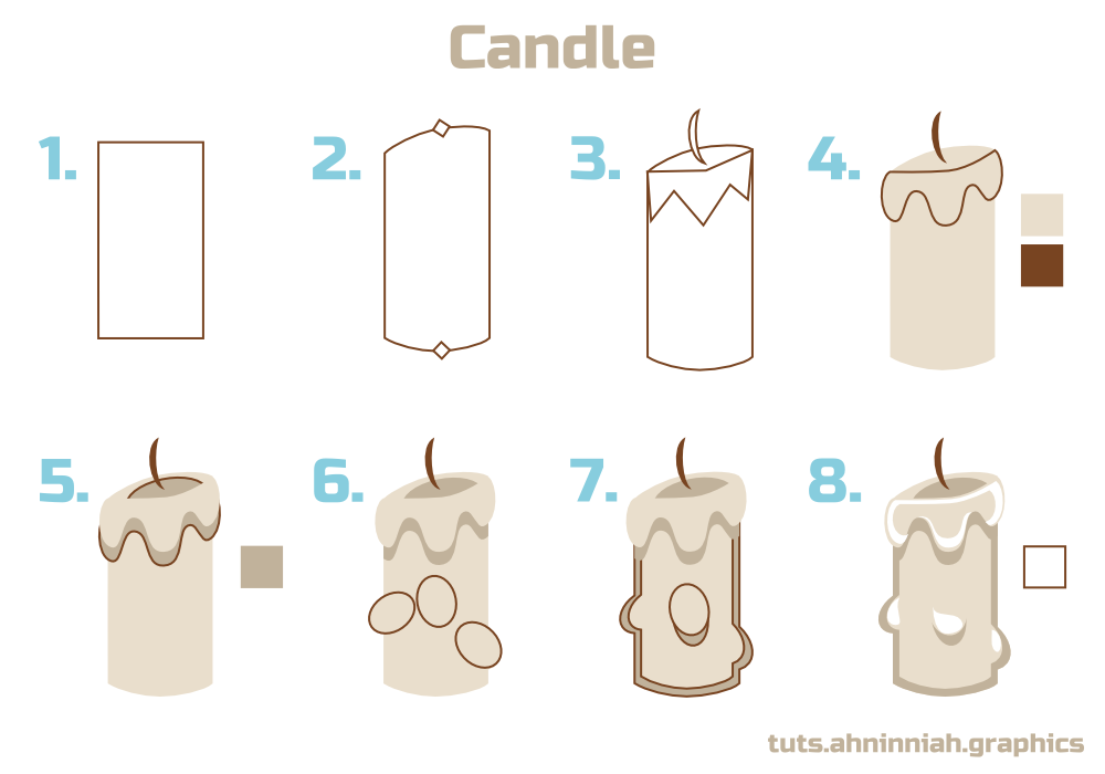 1000x700 Inkscape Tutorials How To Draw A Candle