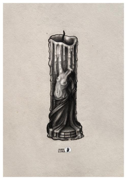 500x712 Melting Candle Art Tumblr