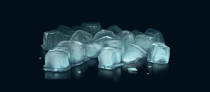 682x300 Drawing Some Realistic Icy Cubes