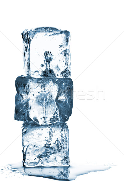 400x600 Melting Ice Cube Stack With Water Stock Photo Shawn Hempel