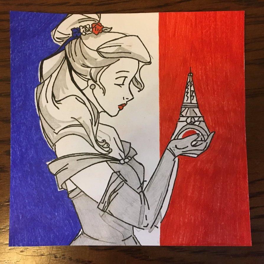 894x894 13 11 2015 Paris Attacks Belle Memorial Drawing By Sneeuwmaan