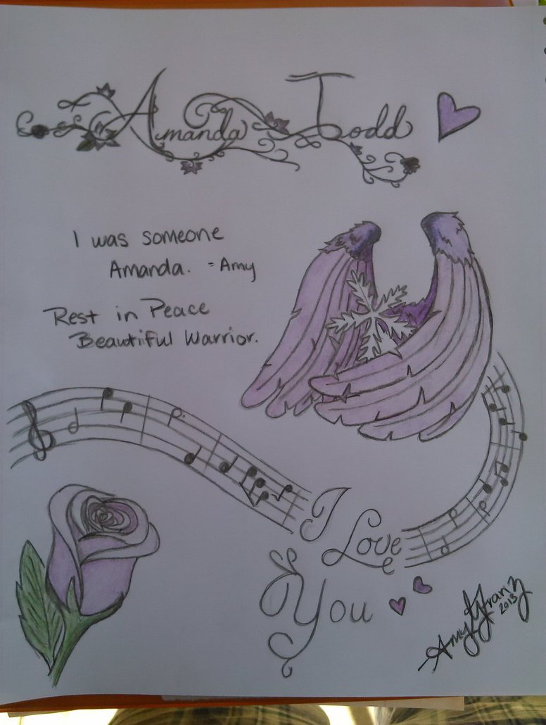 776x1030 Amanda Todd Memorial Drawing By Lilforensic