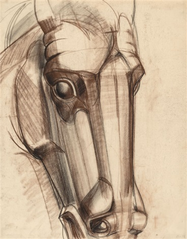 368x470 Horses Head 1, Working Drawing For The Oneill Memorial By Viktor