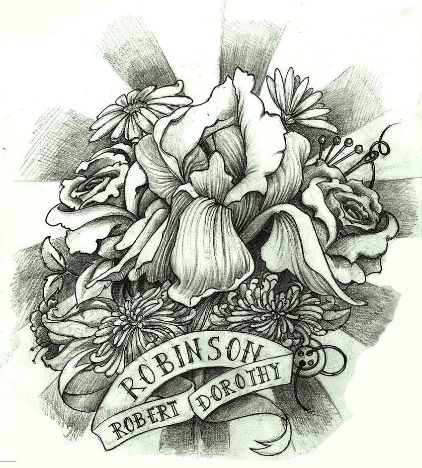 849x941 Memorial Tattoo By Endofnonentity