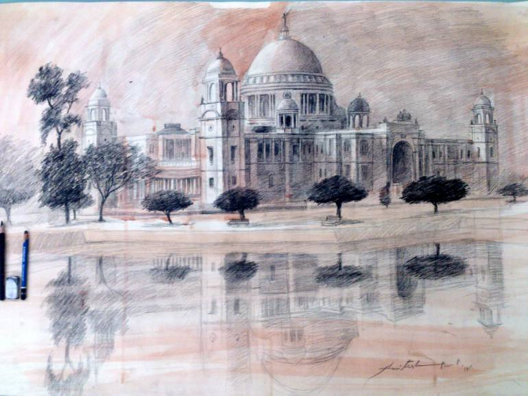 770x578 Saatchi Art The Victoria Memorial Hall,kolkata. Drawing By