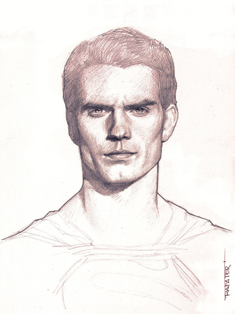 773x1033 Man Of Steel Pencil Drawing By Rafater