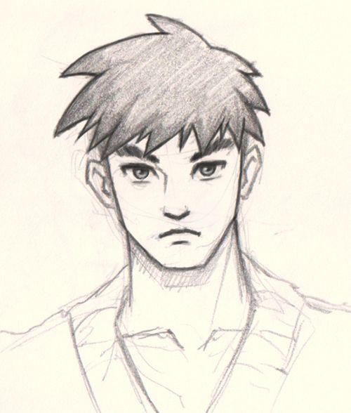 500x588 How To Draw Manga Man How To Draw Manga Man Face 3 Different Ways