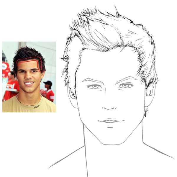 600x600 How To Draw Hair Male Sharenoesis