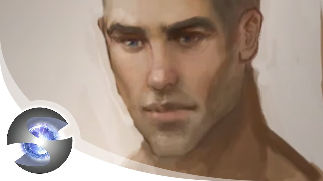 1280x720 How To Draw Male Lips And Paint Skin Tones